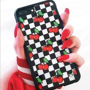 wholesale dealer fdfc4 42cb6 [wildflower] checkered cherry iphone case 6+/7+/8+